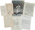 Autographs:Letters, 1939-96 Ted Williams Signed Letters, Documents & Others Lot of7....