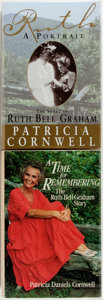 Books:Biography & Memoir, Patricia Cornwell. Two SIGNED First Editions. Includes: Ruth, APortrait: The Story of Ruth Bell Graham [and:] A... (Total:2 Items)