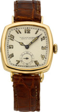 Timepieces:Wristwatch, Vacheron Constantin Early Gold Wristwatch, circa 1918. ...