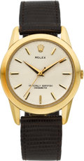 Timepieces:Wristwatch, Rolex Ref. 8570 Gent's Yellow Gold Wristwatch, circa 1958. ...