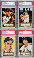 Baseball Cards:Lots, 1952 Topps Baseball Stars & HoFers PSA NM 7 Collection (4). ...