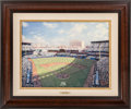 Baseball Collectibles:Others, 2007 Thomas Kinkade Yankee Stadium Renaissance Edition FramedCanvas....