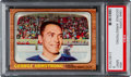Hockey Cards:Singles (1960-1969), 1966 Topps George Armstrong #84 PSA Mint 9 - Pop Two, None Higher! ...