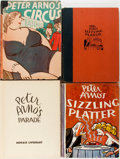 Books:Art & Architecture, [Cartoons]. Peter Arno. INSCRIBED. Four Books of Cartoons. Includes the first and second printings of Sizzling Platter (... (Total: 4 Items)