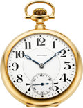 Timepieces:Pocket (post 1900), Howard (Keystone) 23 Jewel 14k Gold Series O Model A, With Box,Circa 1915. ...