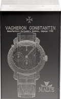 "Timepieces:Other , Vacheron Constantin Laser Etched ""Malte"" Clear Crystal Display. ..."