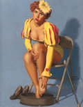 """Pin-up and Glamour Art, EARL MORAN (American, 1893-1984). """"Leading a Parade Without aFalter, is Easier Than Leading a Man to the Alter,"""" Brown & ...(Total: 2 Items)"""