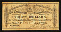 Confederate Notes:Group Lots, $30 Confederate Bond Coupon For 1864 $1000 Bond Fine-Very Fine.....