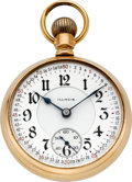 Timepieces:Pocket (post 1900), Illinois 24 Jewel 14k Gold Bunn Special Model 4, Circa 1907. ...