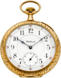Timepieces:Pocket (pre 1900) , Waltham American Watch Co. 21 Jewel 14k Gold Model 1894, Circa1899. ...
