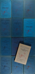Books:Art & Architecture, The Sarawak Museum Journal. Thirteen discontinuous issues spanning from 1960 to 1968. Octavos. Original blue printed wra... (Total: 13 Items)