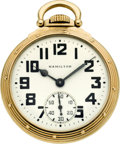 Timepieces:Pocket (post 1900), Hamilton 21 Jewel Grade 992B, Circa 1944. ...