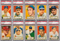 Baseball Cards:Lots, 1952 Topps Baseball Low Number PSA NM 7 Collection (10) - All RedBacks....