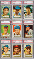 Baseball Cards:Lots, 1952 Topps Baseball PSA NM-MT 8 Collection (9). ...