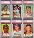 Baseball Cards:Lots, 1952 Topps Baseball Low Numbers PSA NM 7 Collection (6) - All BlackBacks. ...