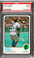 Baseball Cards:Singles (1970-Now), 1973 Topps Pete Rose #130 PSA Mint 9....