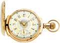 Timepieces:Pocket (pre 1900) , Waltham Gold 18 Size Multicolor Box Hinge With O'Hara Dial, circa1893. ...