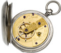 Timepieces:Pocket (pre 1900) , Hiram W. Smith, Boston Mass. Unique Early American Market Watch,circa 1865. ...