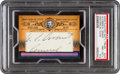 Autographs:Sports Cards, 2006 Playoff National Treasures Ulysses S. Grant #UG - #'d 1/2. ...