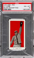 """Baseball Cards:Singles (Pre-1930), 1910 E98 """"Set of 30"""" Ty Cobb (Red) """"Black Swamp Find"""" PSA NM-MT 8 -The """"Lowest"""" Graded Cobb. ..."""