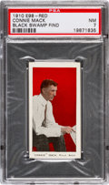 "Baseball Cards:Singles (Pre-1930), 1910 E98 ""Set of 30"" Connie Mack (Red) ""Black Swamp Find"" PSA NM 7...."