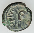 Ancients:Judaea, Ancients: ROMAN GOVERNORS. Pontius Pilate (AD 26-36). Æ irregularprutah (1.74 gm)....