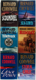 Books:Science Fiction & Fantasy, Bernard Cornwell. Six SIGNED First Editions. Includes: Wildtrack; Redcoat; Sea Lord; Crack Down; Stormchild; Scoundrel. ... (Total: 6 Items)