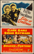 """Movie Posters:War, Edge of Darkness and Other Lot (Warner Brothers, 1943). Half Sheets(2) (22"""" X 28""""). Style A. War.. ... (Total: 2 Items)"""