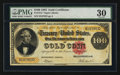 Large Size:Gold Certificates, Fr. 1212 $100 1882 Gold Certificate PMG Very Fine 30.. ...