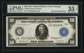 Error Notes:Large Size Errors, Fr. 930 $10 1914 Federal Reserve Note PMG Choice Very Fine 35 EPQ.. ...