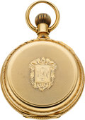 Timepieces:Pocket (pre 1900) , Elgin 15 Jewel Grade 50 First Convertible Model 14k Gold, Circa1889. ...