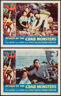 """Movie Posters:Science Fiction, Attack of the Crab Monsters (Allied Artists, 1957). Lobby Cards (2)(11"""" X 14""""). Science Fiction.. ... (Total: 2 Items)"""