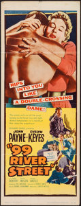 """Movie Posters:Crime, 99 River Street (United Artists, 1953). Insert (14"""" X 36""""). Crime....."""