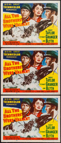 "Movie Posters:Adventure, All the Brothers Were Valiant (MGM, 1953). Title Lobby Cards (3)(11"" X 14""). Adventure.. ... (Total: 3 Items)"