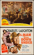 """Movie Posters:Drama, The Man from Down Under (MGM, 1943). Title Lobby Card & Lobby Card (11"""" X 14""""). Drama.. ... (Total: 2 Items)"""