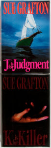 "Books:Mystery & Detective Fiction, Sue Grafton. ""J"" is for Judgment [and:] ""K"" is forKiller. New York: Henry Holt, [1993, 1994]. First edition...(Total: 2 Items)"