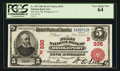 National Bank Notes:Connecticut, Bridgeport, CT - $5 1902 Red Seal Fr. 587 The First NB Ch. #(N)335. ...