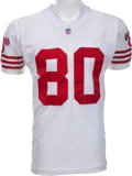 Football Collectibles:Uniforms, 1995 Jerry Rice Game Worn, Signed San Francisco 49ers Jersey - Worn During Career Reception Record Breaking Game!...