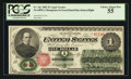 Large Size:Legal Tender Notes, Fr. 16c $1 1862 Legal Tender PCGS Choice About New 55.. ...