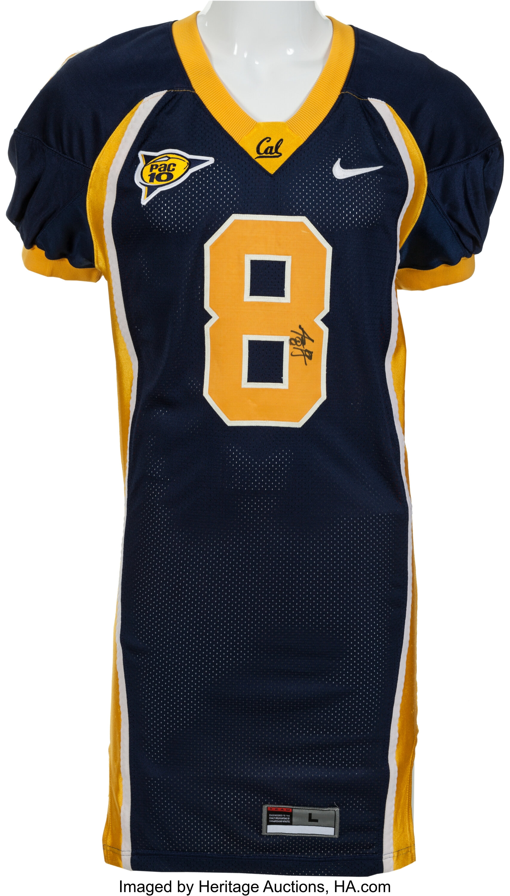 new concept 99ace 239bf 2004 Aaron Rodgers Game Worn, Signed Cal Bears Jersey ...
