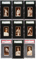 Baseball Cards:Lots, 1912 T207 Brown Background Graded Collection (9) With McGraw. ...