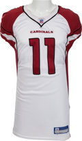 Football Collectibles:Uniforms, 2006 Larry Fitzgerald Game Worn Arizona Cardinals Jersey - With Multiple Team Repairs....