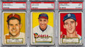 Baseball Cards:Lots, 1952 Topps Baseball Hall Of Fame PSA NM 7 Trio (3). ...