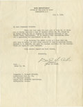 """Autographs:Military Figures, General Douglas MacArthur Typed Letter Signed, one page on War Department Chief of Staff's letterhead, 8"""" x 10.5"""", Washingt... (Total: 1 Item)"""
