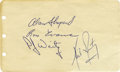 Autographs:Celebrities, Neil Armstrong, Alan Shepard, Ron Evans, and P. J. Weitz Signatures...