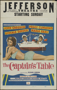 "The Captain's Table (20th Century Fox, 1960). Window Card (14"" X 22""). Comedy. Directed by Jack Lee. Starring..."
