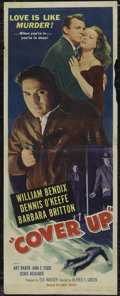 "Movie Posters:Mystery, Cover-Up (United Artists, 1949). Insert (14"" X 36""). Mystery.Directed by Alfred E. Green. Starring Dennis O'Keefe, William ..."