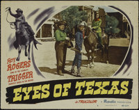 """Eyes of Texas (Republic, 1948). Lobby Card (11"""" X 14""""). Western. Directed by William Witney. Starring Roy Roge..."""