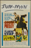 """Movie Posters:Musical, Flaming Star (20th Century Fox, 1960). Window Card (14"""" X 22""""). Western. Directed by Don Siegel. Starring Elvis Presley, Bar..."""