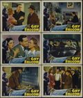 "Movie Posters:Mystery, The Gay Falcon (RKO, 1941). Lobby Cards (6) (11"" X 14""). Crime.Directed by Irving Reis. Starring George Sanders, Wendy Barr...(Total: 6 Items)"